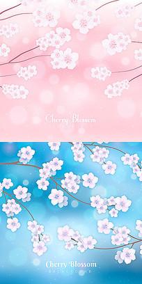 展板樱花背景素材