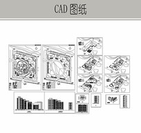 住宅楼小区规划图 CAD