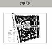 住宅区景观设计平面图 CAD