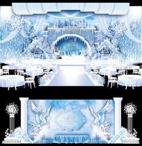 冰雪奇缘主题婚礼AI设计 AI