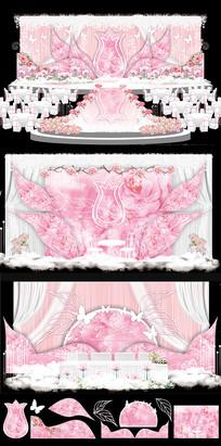 粉色浪漫主题婚礼CDR设计 CDR