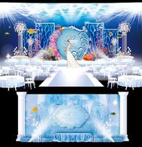 海洋蓝主题婚礼AI设计 AI