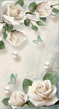 3D立体珠宝花卉玄关