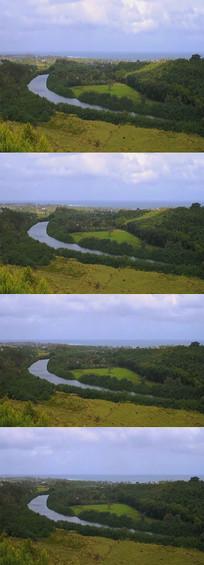 草原河流背景视频素材