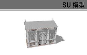 单层中式建筑模型