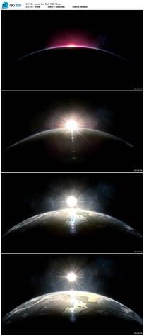 地球地平线日出视频