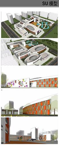 高档幼儿园景观方案模型