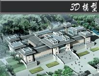 古建筑式教育建筑3D模型