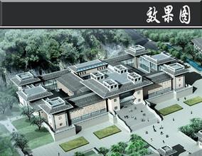 古建筑式教育建筑效果图 JPG