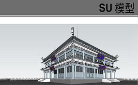 鼓楼仿古建筑模型