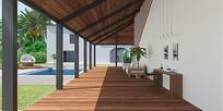海南风格庭院设计效果图