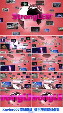 红色科技地球项目展示图文Ae