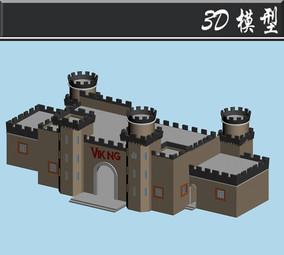 灰色城墙游乐场所3D模型