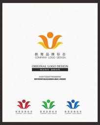 教育培训少儿学校标志设计