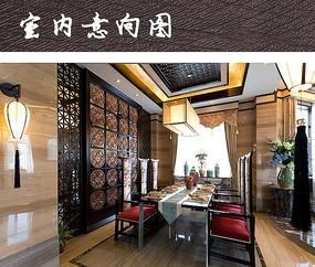 家装中式宫廷风餐厅设计 JPG