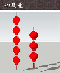 节庆大红灯笼SU
