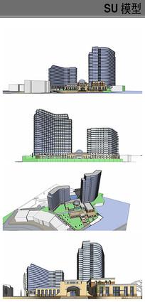 酒店综合体+幼儿园模型