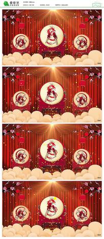 龙腾盛世鼓舞中华舞台背景视频