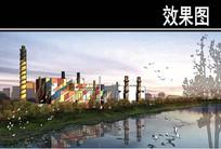 美国某滨水城市工厂效果图 JPG