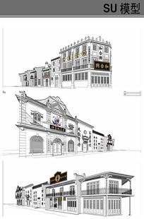 民国老街模型
