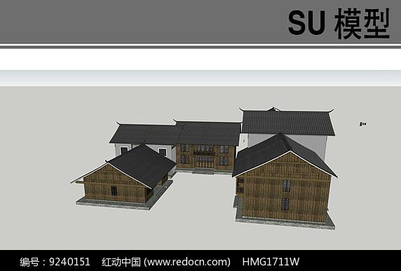 民居住宅模型图片
