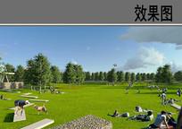 某广场公园草地效果图 JPG