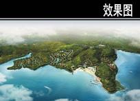 某国际旅游度假村鸟瞰图 JPG