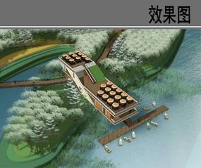 某河迁西县城段休闲茶室鸟瞰 JPG