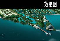 某旅游区长江三角洲公园透视图