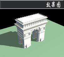 欧式拱门效果图