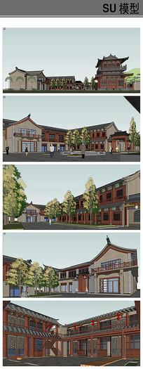 蒲城 唐风商业街建筑模型