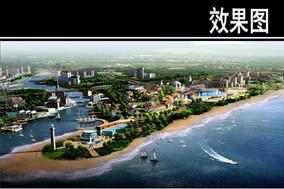 青岛海泉湾度假区滨水效果图