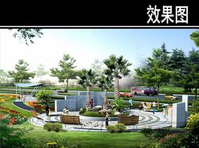 上海某道路景观节点二效果图