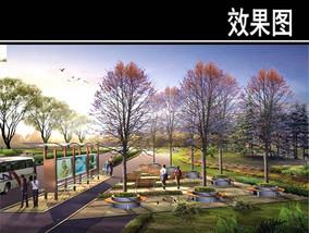 上海某道路景观节点四效果图