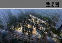 上海某路商业综合体鸟瞰图 JPG