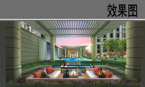 上海某商业办公区室内效果图