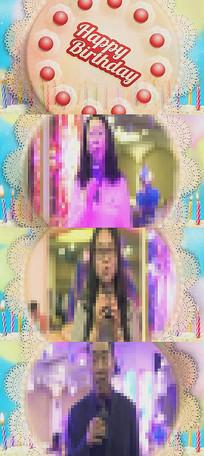 生日祝福边框视频模板