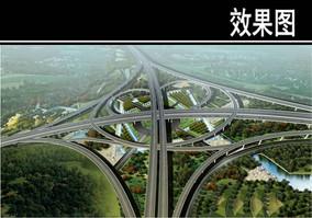 苏州某高速公路鸟瞰图