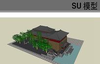 唐朝古建筑模型