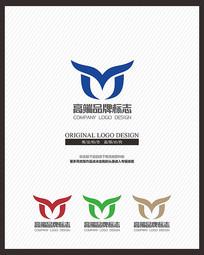 腾飞的鸟企业原创标志设计 CDR
