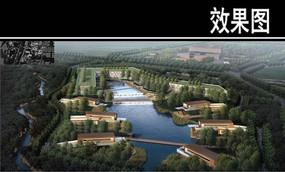 县新城城市生态休闲公园效果图