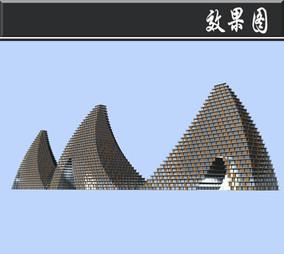 斜三角创意游乐场所效果图