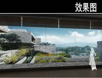 园林博物馆玻璃镜子透视图 JPG