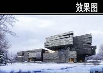 园林博物馆雪天透视图 JPG