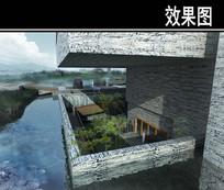园林博物馆阳台透视图 JPG