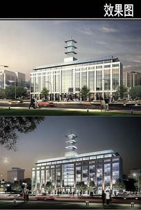 郑州某景观街绿城广场效果图