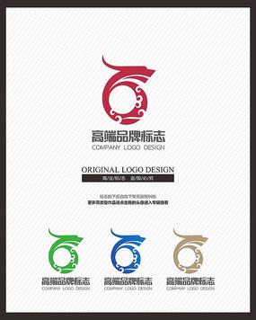 中国风龙祥云标志设计