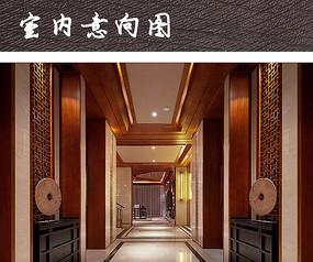 中式别墅走道装饰装修
