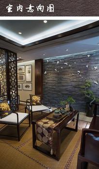 中式茶室家具装饰