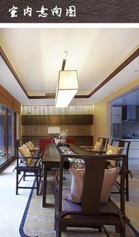 中式格调餐厅家具